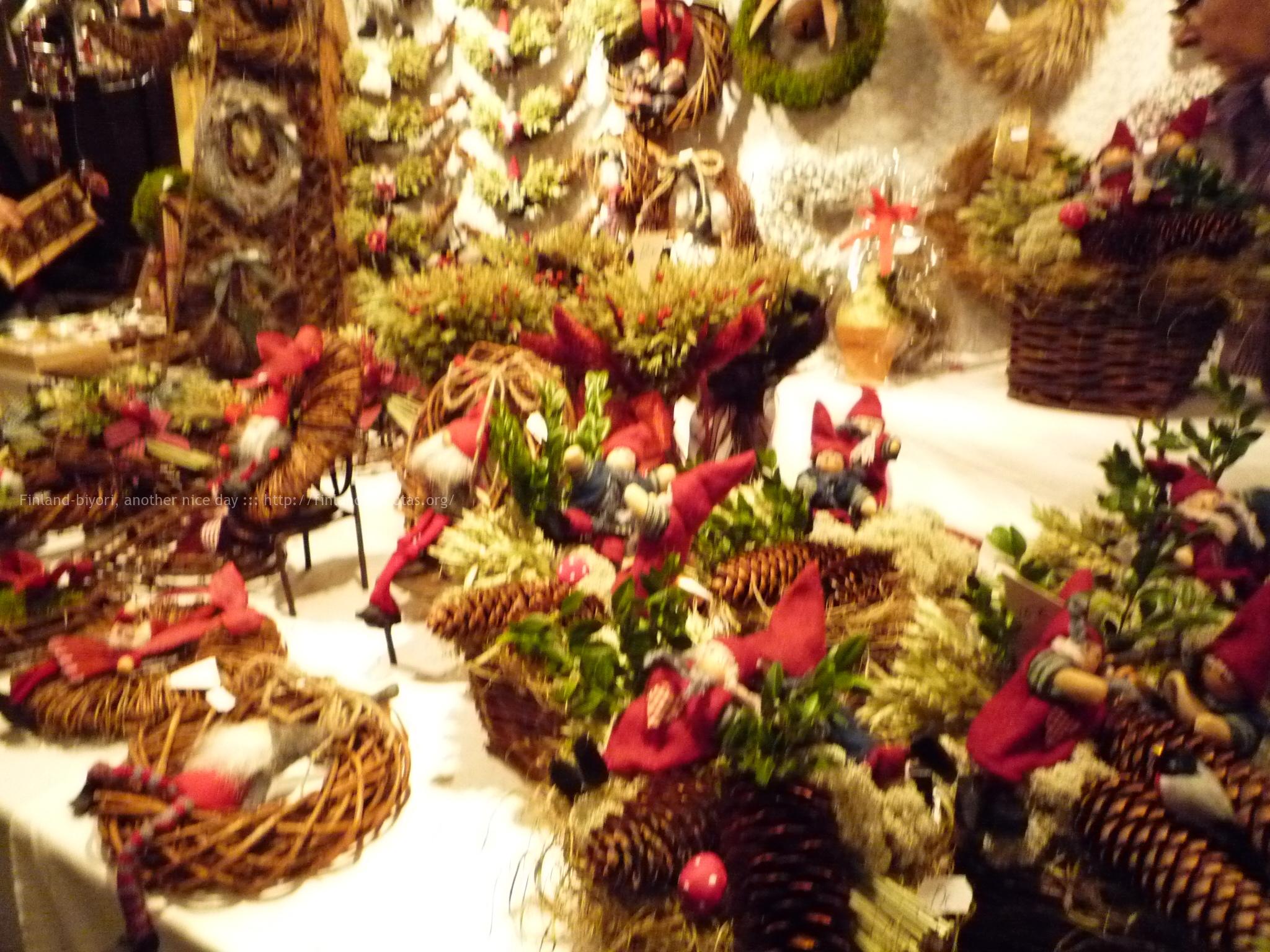 クリスマスマーケットの雑貨