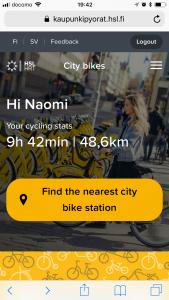 city bike my page
