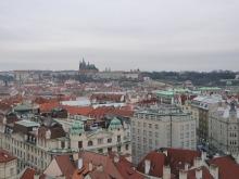 フィンランド暮らしの嫁日記-時計塔からプラハ城を見る