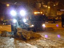 フィンランド暮らしの嫁日記-夜の除雪