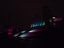 フィンランド暮らしの嫁日記-ライトアップされた大聖堂