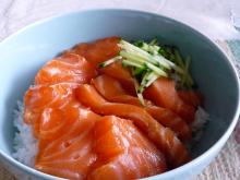 フィンランド暮らしの嫁日記-サーモン丼