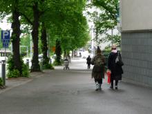 フィンランド暮らしの嫁日記-街を歩くスナフキン
