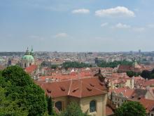 フィンランド暮らしの嫁日記-プラハ城からの眺め